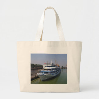 Ferry In Odessa Large Tote Bag