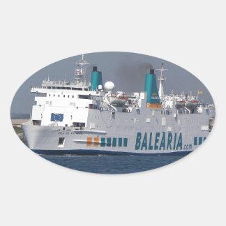 Ferry Isla De Botafoc Oval Sticker