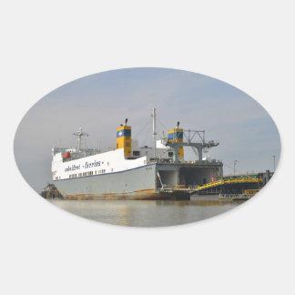 Ferry Melusine Oval Sticker