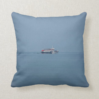Ferry on Lake Garda throw cushion