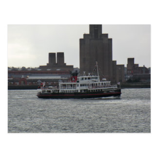 Ferry Over the River Mersey Postcard