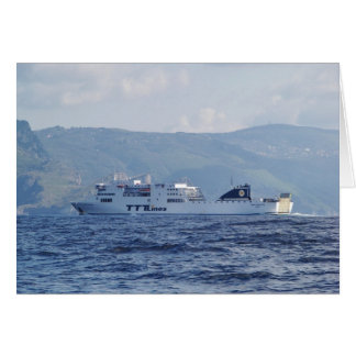 Ferry Partenope Greeting Card