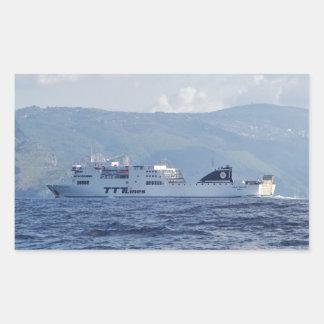 Ferry Partenope Rectangular Sticker