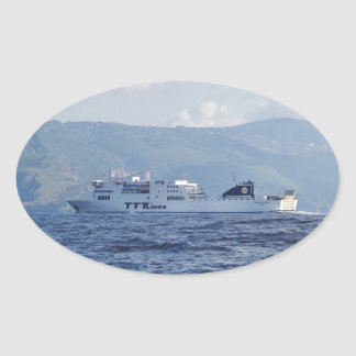 Ferry Partenope Oval Sticker