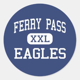 Ferry Pass Eagles Middle Pensacola Florida Round Sticker