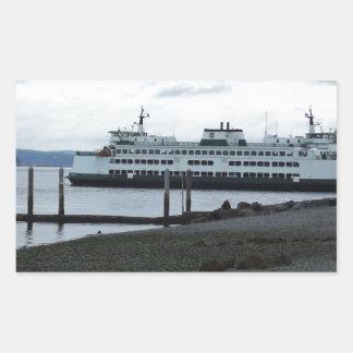 Ferry Rectangular Sticker