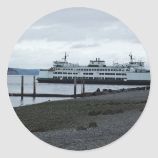 Ferry Round Sticker