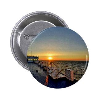 Ferry Sunset 6 Cm Round Badge