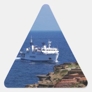 Ferry Tetide Approaching Ventotene Stickers