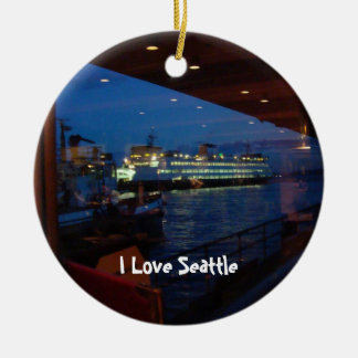 Ferry through the Window Christmas Ornament