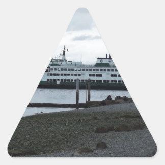 Ferry Triangle Sticker