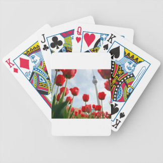 Fersehturm Television Tower Berlin Germany Bicycle Poker Cards