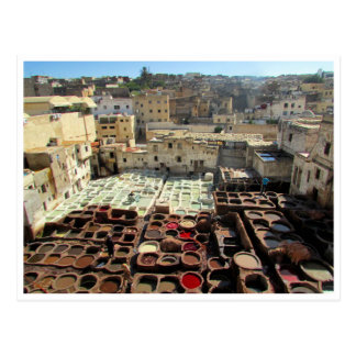 fes leather tannery postcard