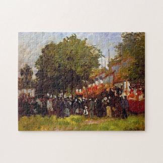 Festival at Argenteuil 1872 Monet Fine Art Jigsaw Puzzle