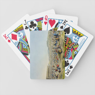 Festival at Athens, pub. by J. Rodwell, 1830 (aqua Bicycle Playing Cards