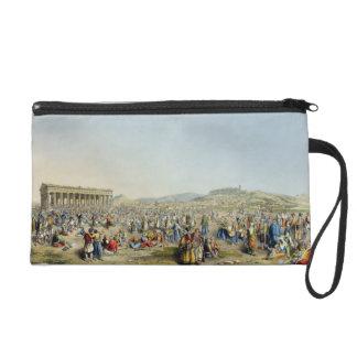 Festival at Athens, pub. by J. Rodwell, 1830 (aqua Wristlet