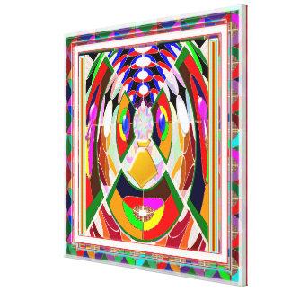 Festival Celebrations Diwali Xmas CARTOON FACE FUN Stretched Canvas Print