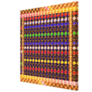 Festival Celebrations Diwali Xmas Symbol INFINITY Gallery Wrapped Canvas