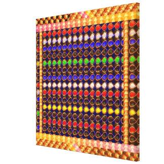 Festival Celebrations Diwali Xmas Symbol INFINITY Canvas Print