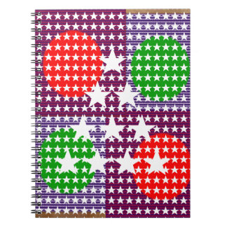 Festival Decorations: Star Moon Sparkle Spiral Notebooks