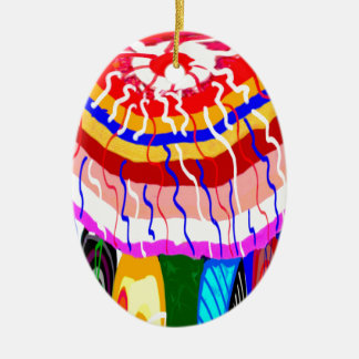 Festival Decorative TENT awning canopy sunshade Ceramic Oval Decoration