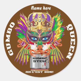Festival Gumbo Queen View Hints please Round Sticker