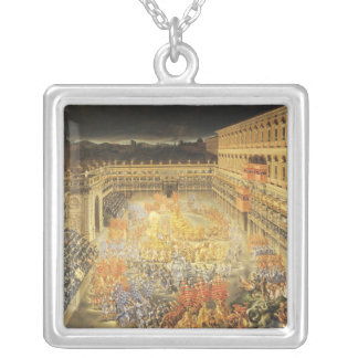 Festival in Honour of Queen Christina Silver Plated Necklace