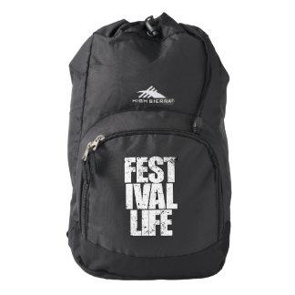 FESTIVAL LIFE (wht) Backpack