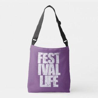 FESTIVAL LIFE (wht) Crossbody Bag