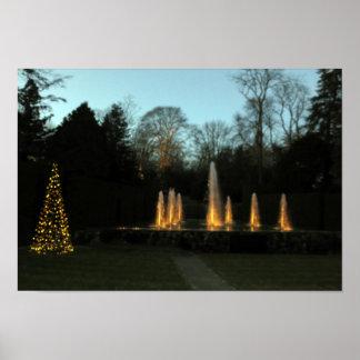 Festival Lighting Fountain Cherry Hill NJ USA Poster