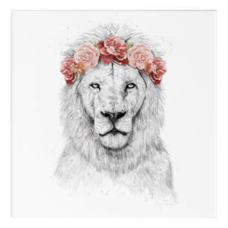 Festival lion acrylic wall art