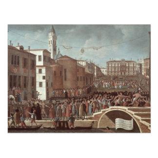 Festival of the Blessed Virgin Mary on Santa Postcard
