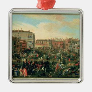 Festival of the Bulls, Campo San Polo Silver-Colored Square Decoration