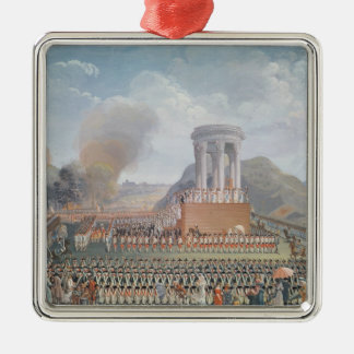 Festival of the Federation, 14th July 1790 Silver-Colored Square Decoration