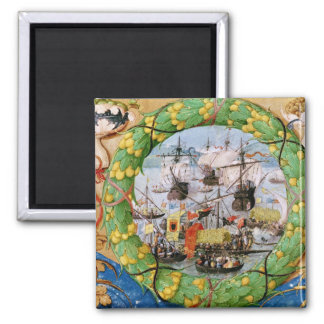 Festival of the Portuguese Fleet Square Magnet