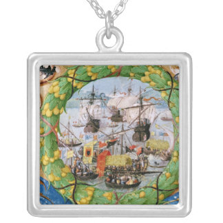 Festival of the Portuguese Fleet Silver Plated Necklace