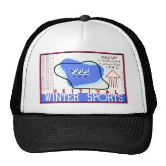 Festival of Winter Sports WPA Poster Trucker Hats