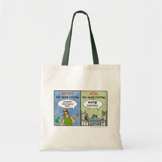 Festival Pentozali Funny FolkDancing Cartoon Tote Bags