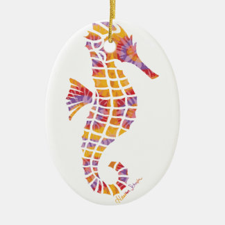 Festival Seahorse Christmas Ornament