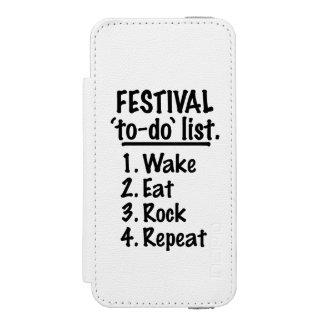 Festival 'to-do' list (blk) incipio watson™ iPhone 5 wallet case