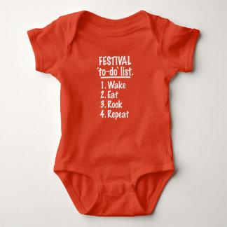 Festival 'to-do' list (wht) baby bodysuit