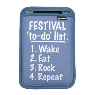 Festival 'to-do' list (wht) iPad mini sleeve