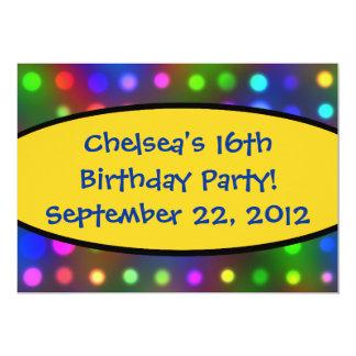 Festive 16th Birthday Party Invitation