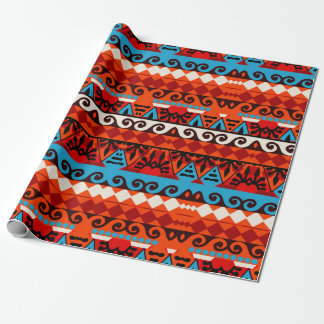 Festive African Tribal Pattern Gift Wrapping Paper