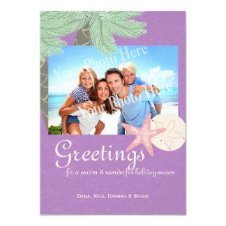 Festive Beach Holiday Flat Card Photo Greeting 13 Cm X 18 Cm Invitation Card