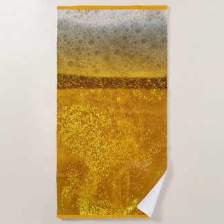 Festive Beer Galaxy a Celestial Quenching Beach Towel