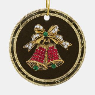 Festive Bells Jewels Photo Print Ornament