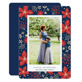 Festive Botanical Holiday Photo Card