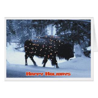 Festive Buffalo Card