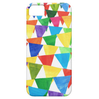 Festive Bunting, Coloured Flags, White Backgroun iPhone 5 Cover